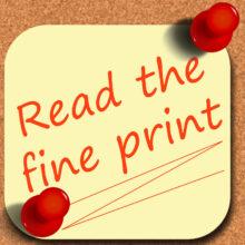 I Hate Fine Print!