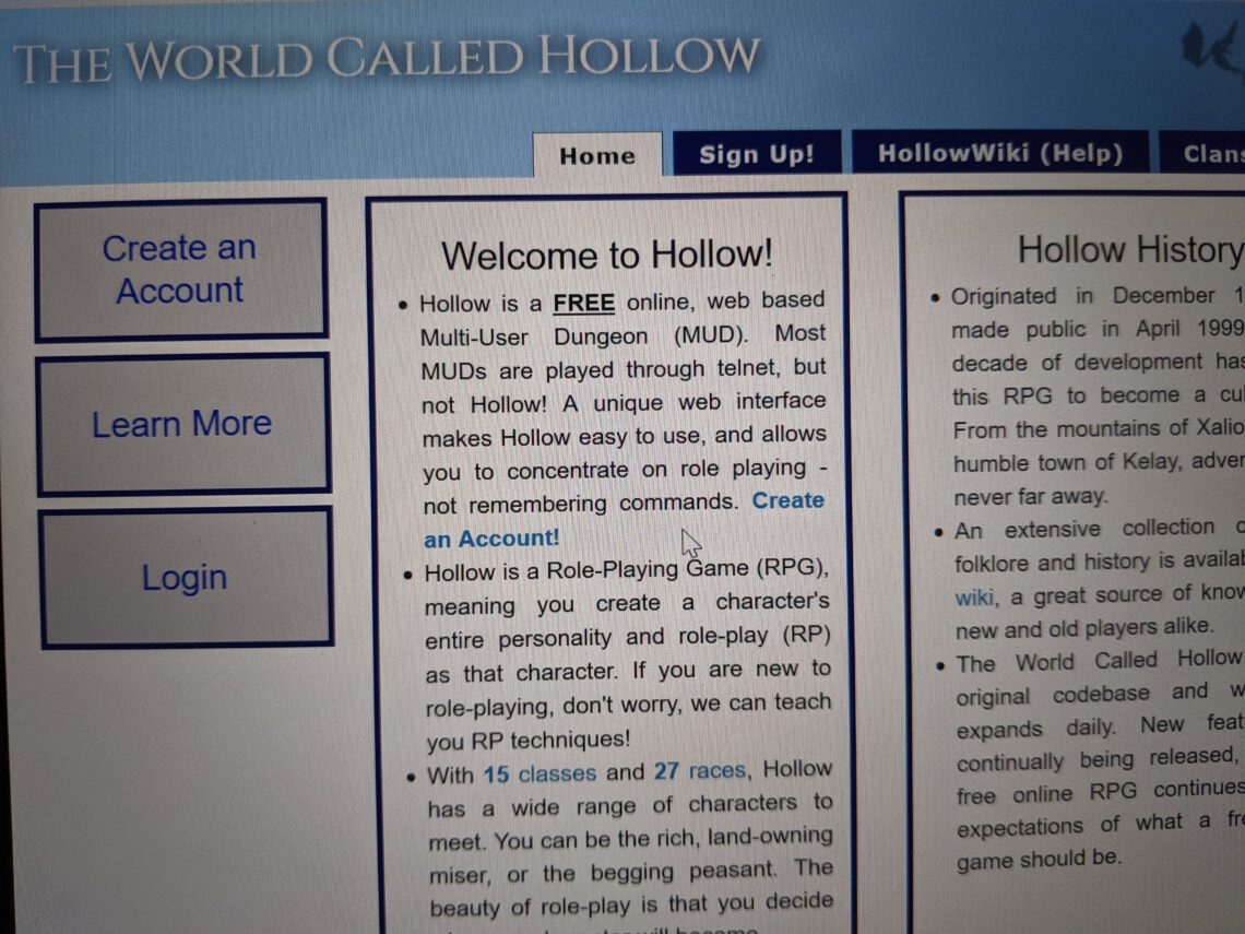 World Called Hollow
