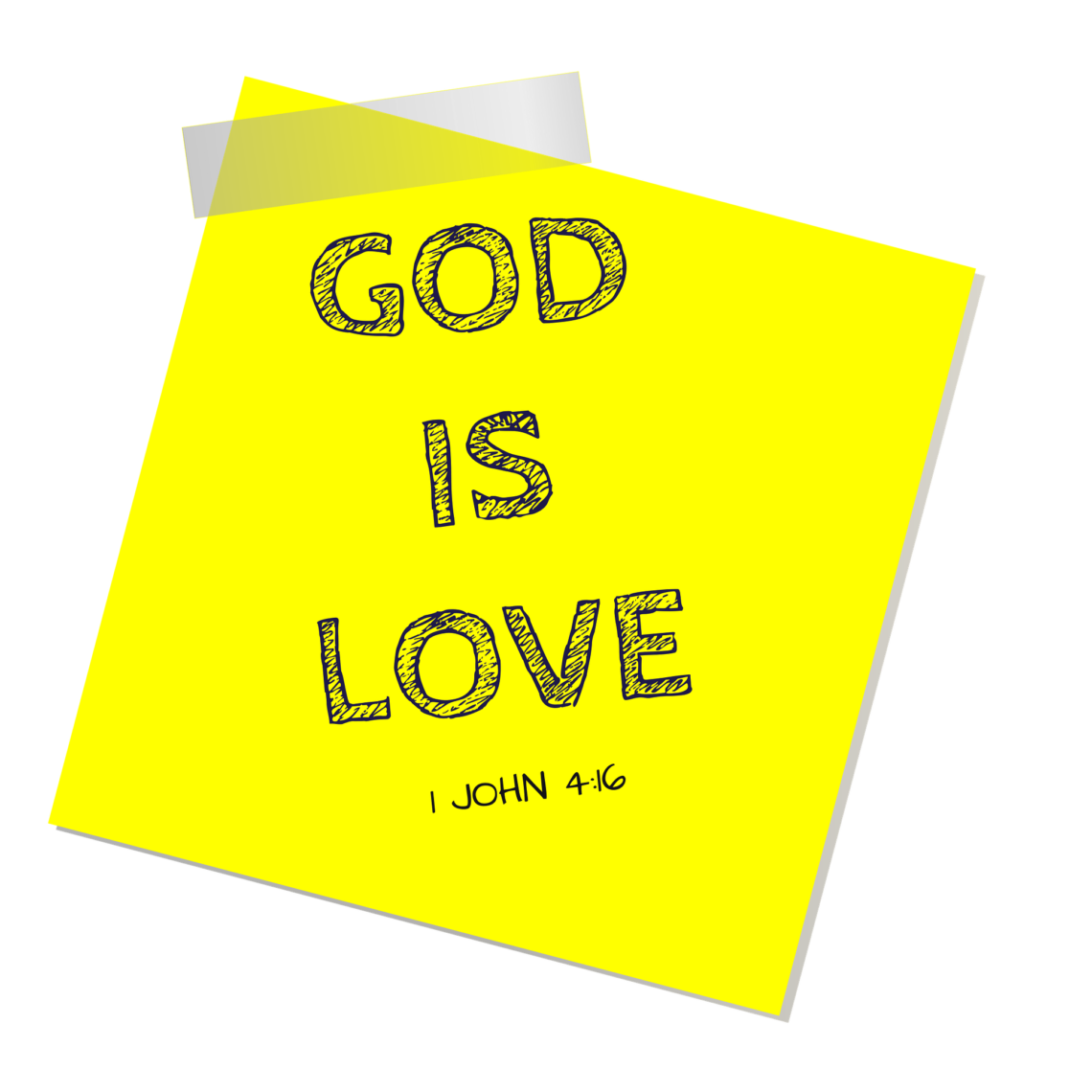God Is Love Sticky Note