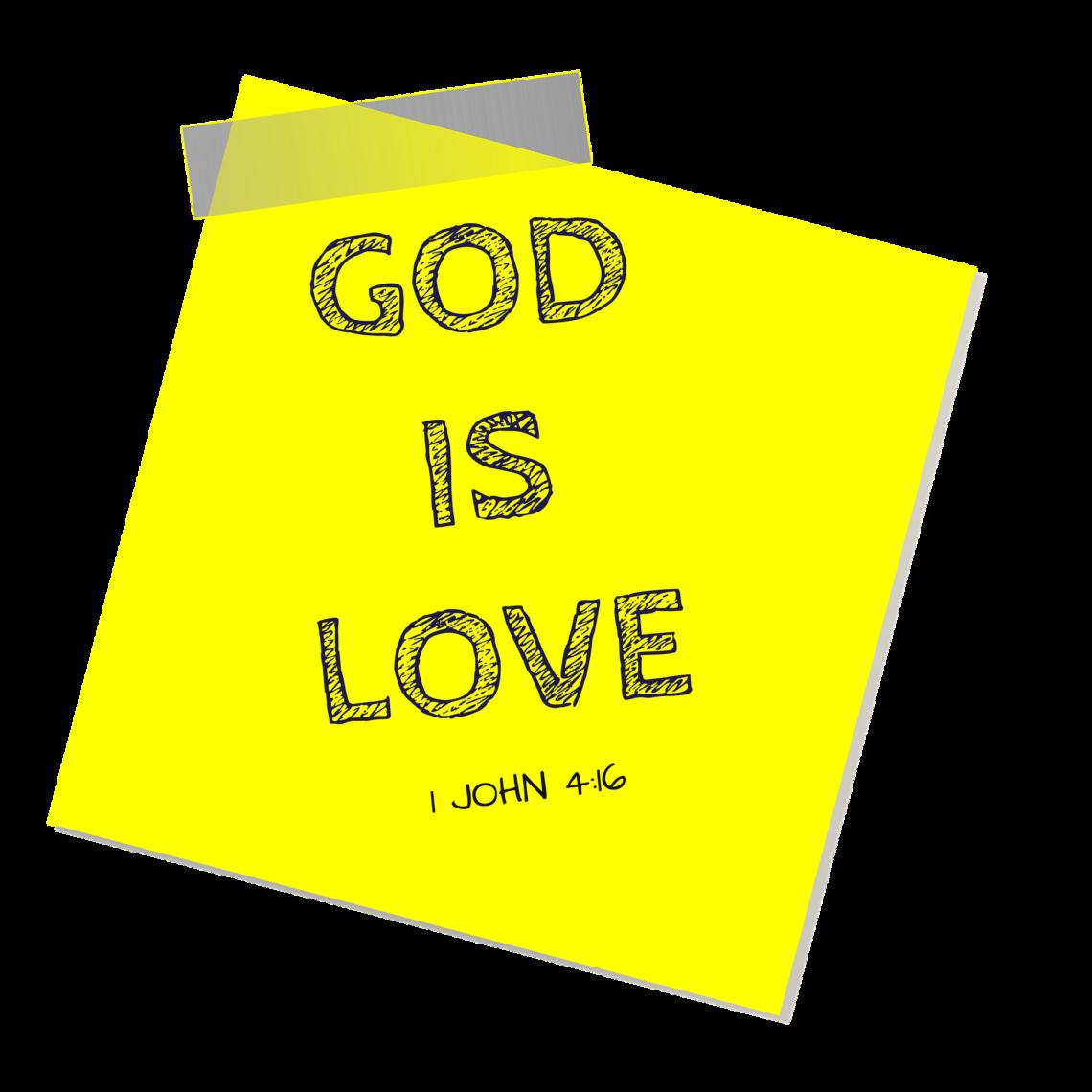 God Is Love Sticky Note
