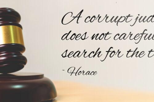 A Corrupt Judge