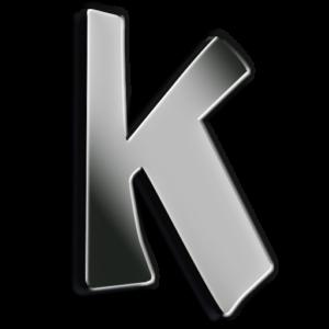 Words By Kim Logo K